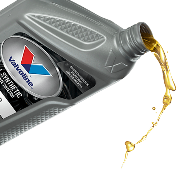 Valvoline oil pouring